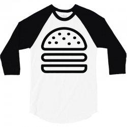burger tee 3/4 Sleeve Shirt   Artistshot