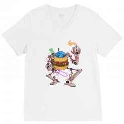burgerobot V-Neck Tee | Artistshot