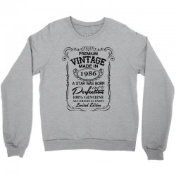 vintage made in 1986 Crewneck Sweatshirt | Artistshot