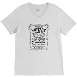 vintage made in 1986 V-Neck Tee | Artistshot