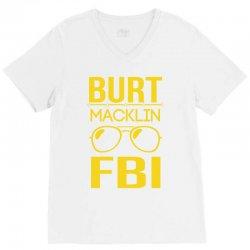 burt macklin fbi V-Neck Tee | Artistshot