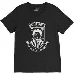 burton's school of forensics V-Neck Tee | Artistshot