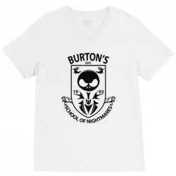 burton's school of nightmares (2) V-Neck Tee | Artistshot