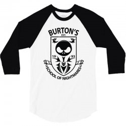 burton's school of nightmares (2) 3/4 Sleeve Shirt | Artistshot