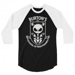 burton's school of nightmares 3/4 Sleeve Shirt | Artistshot