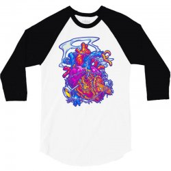 busted heart 3/4 Sleeve Shirt | Artistshot