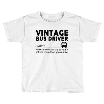 Bus Driver Toddler T-shirt Designed By Delicous