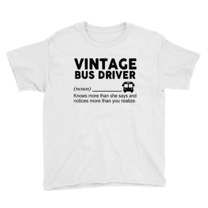 Bus Driver Youth Tee Designed By Delicous