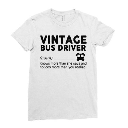 Bus Driver Ladies Fitted T-shirt Designed By Delicous
