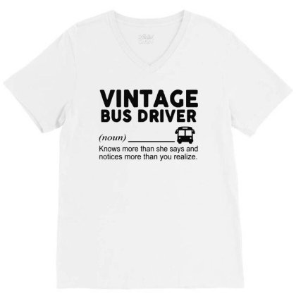 Bus Driver V-neck Tee Designed By Delicous