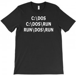 c dos run T-Shirt | Artistshot