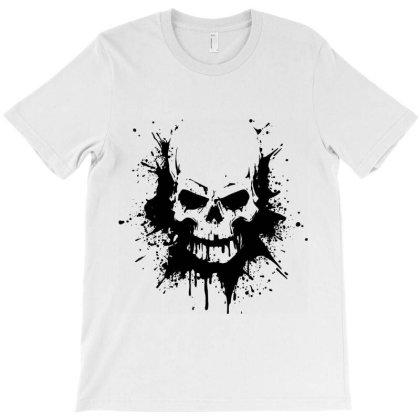 Skull Heavy Metal T-shirt Designed By Designisfun