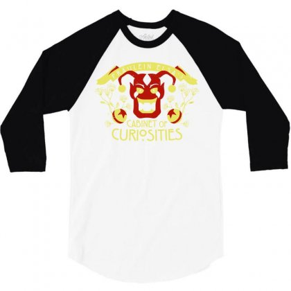 Cabinet Of Curiosities 3/4 Sleeve Shirt Designed By Monstore