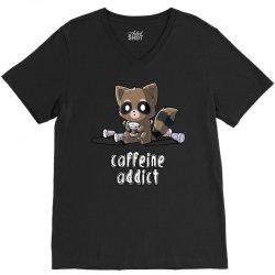 caffeine addict (2) V-Neck Tee | Artistshot