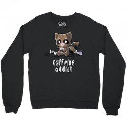 caffeine addict (2) Crewneck Sweatshirt   Artistshot