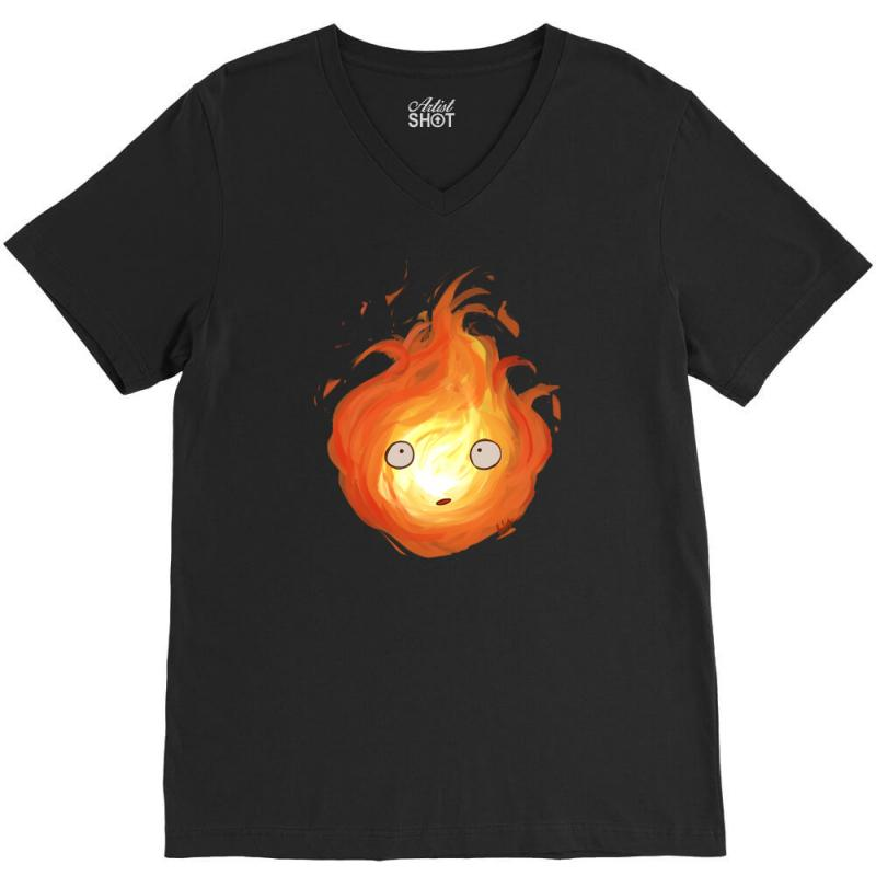 Calcifer V-neck Tee | Artistshot