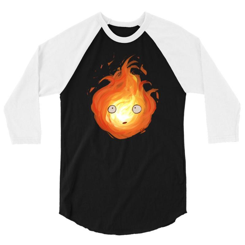 Calcifer 3/4 Sleeve Shirt | Artistshot
