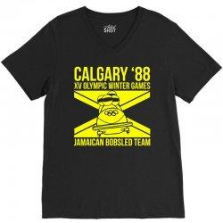 calgary 88 jamaican bobsleigh team V-Neck Tee | Artistshot
