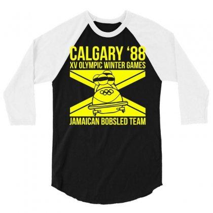Calgary 88 Jamaican Bobsleigh Team 3/4 Sleeve Shirt Designed By Monstore