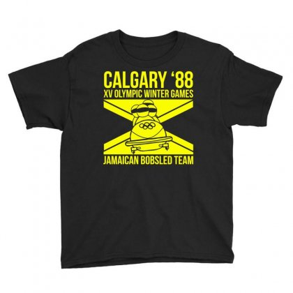 Calgary 88 Jamaican Bobsleigh Team Youth Tee Designed By Monstore