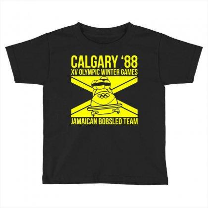 Calgary 88 Jamaican Bobsleigh Team Toddler T-shirt Designed By Monstore