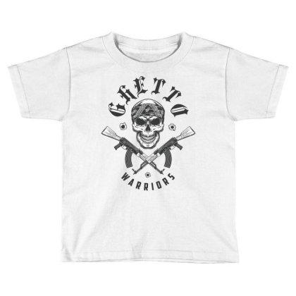 Ghetto Warriors Skull Toddler T-shirt Designed By Estore