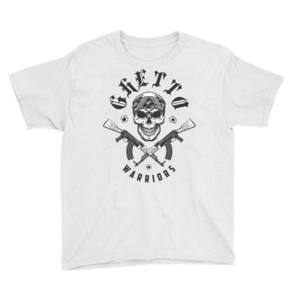 Ghetto Warriors Skull Youth Tee Designed By Estore