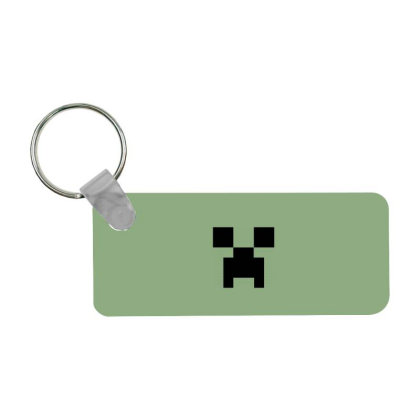 Minecraft Creeper For Green Frp Rectangle Keychain Designed By Ofutlu