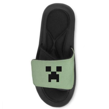 Minecraft Creeper For Green Slide Sandal Designed By Ofutlu