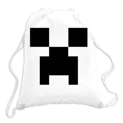Minecraft Creeper For Green Drawstring Bags Designed By Ofutlu