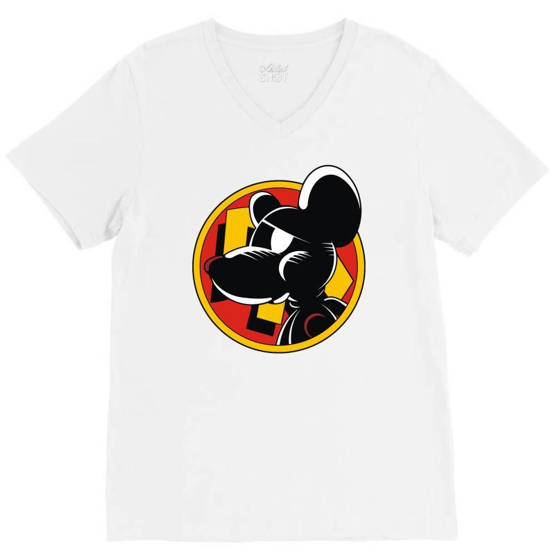 Calling Danger Mouse V-neck Tee | Artistshot