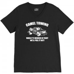 camel towing V-Neck Tee | Artistshot