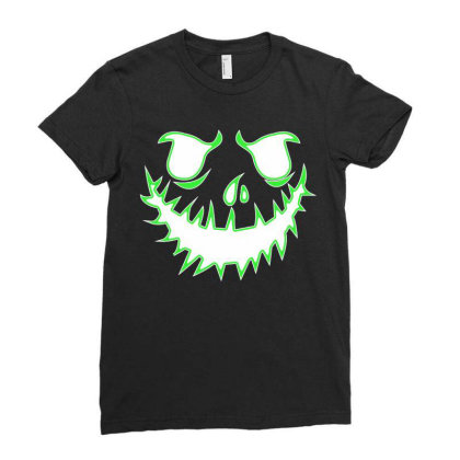 Glowing Jack Ladies Fitted T-shirt Designed By Lotus Fashion Realm
