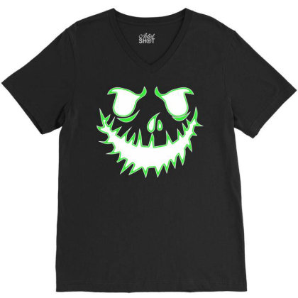 Glowing Jack V-neck Tee Designed By Lotus Fashion Realm
