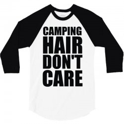 camping hair don't care 3/4 Sleeve Shirt | Artistshot