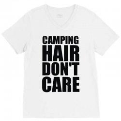 camping hair don't care V-Neck Tee | Artistshot