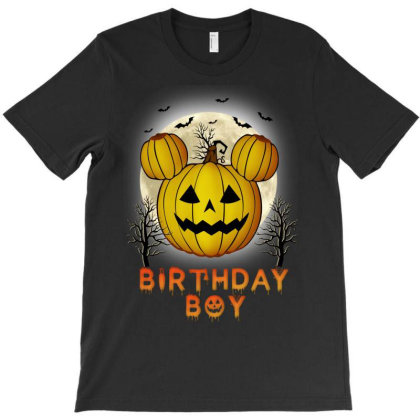 Birthday Boy Halloween Pumpkin T-shirt Designed By Badaudesign