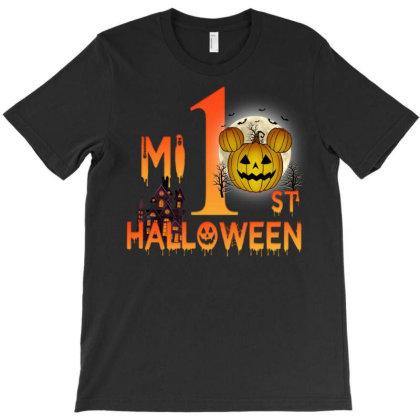 Mi 1st Halloween Pumpkin T-shirt Designed By Badaudesign