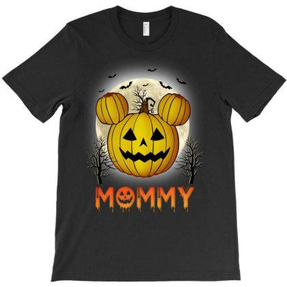 Mommy Halloween Pumpkin T-shirt Designed By Badaudesign