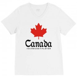 canada ice hockey V-Neck Tee | Artistshot