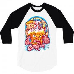 candypaint   evil food brigade 3/4 Sleeve Shirt   Artistshot