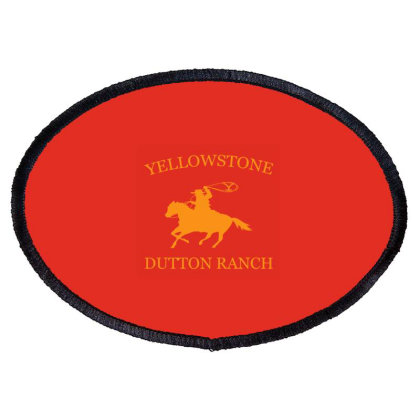 Yellowstone Tv Show Oval Patch Designed By Tata Harimurti