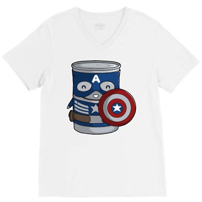 Cap Tin America V-neck Tee | Artistshot