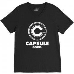 capsule corp V-Neck Tee   Artistshot