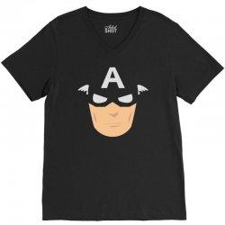 captain america mask V-Neck Tee | Artistshot