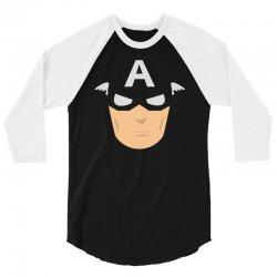 captain america mask 3/4 Sleeve Shirt | Artistshot