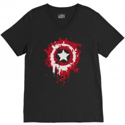 captain america shield V-Neck Tee | Artistshot