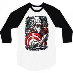 captain america 3/4 Sleeve Shirt   Artistshot