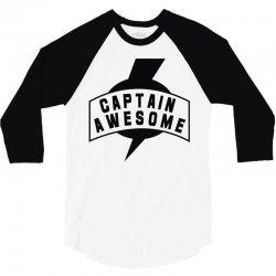 captain awesome 3/4 Sleeve Shirt | Artistshot