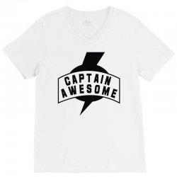 captain awesome V-Neck Tee | Artistshot